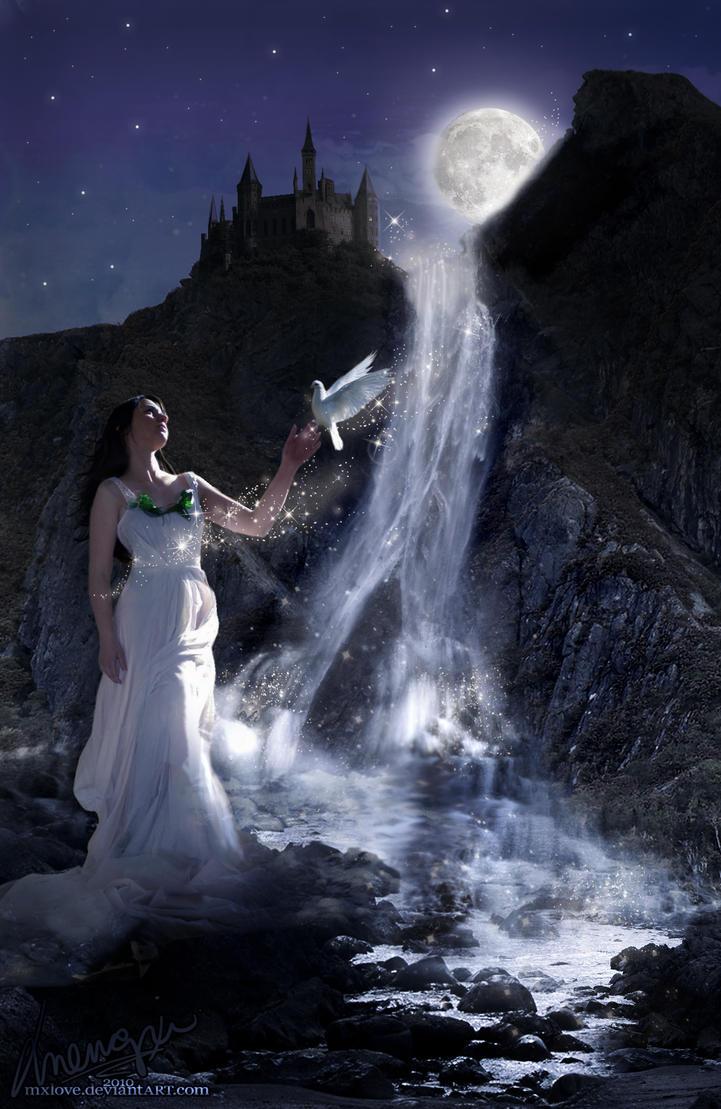 Waterfall Goddess by mxlove