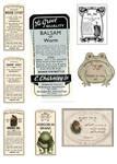 vintage style potion labels