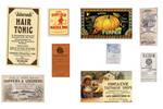 strange vintage labels for halloween