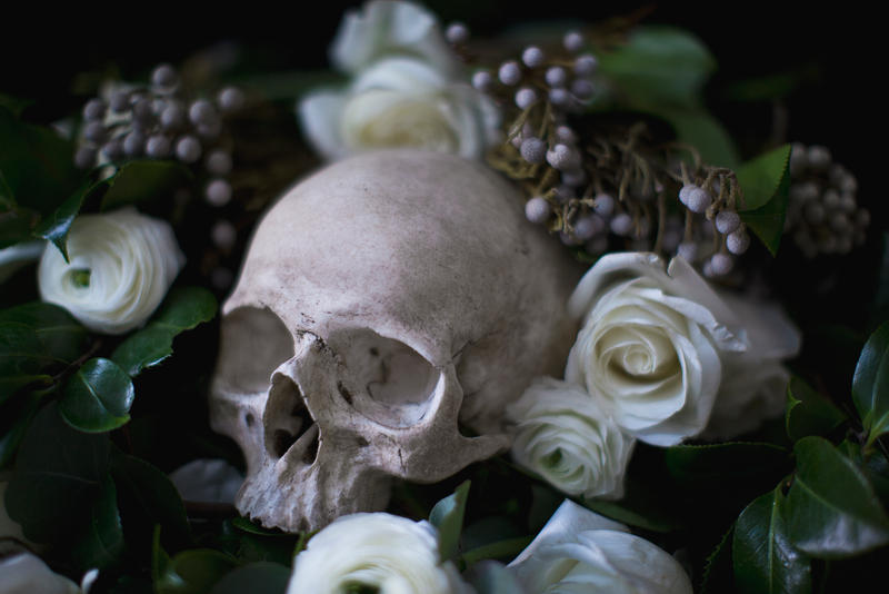 Death and roses