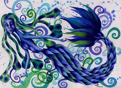 Sad mermaid by carmen23leo