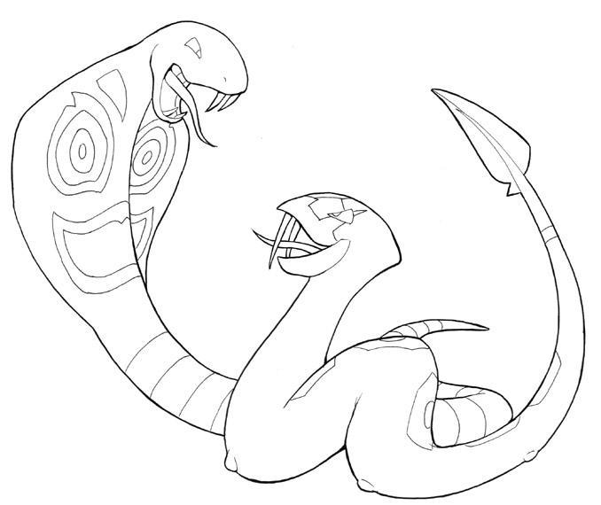 Arbok vs Seviper by drakered