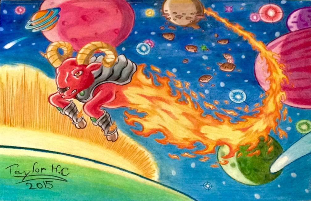 Cosmic Flame Aries by FireWario