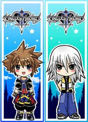 Riku + Sora bookmarks by SiliceB