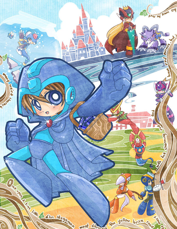 Megaman in Wonderland by SiliceB