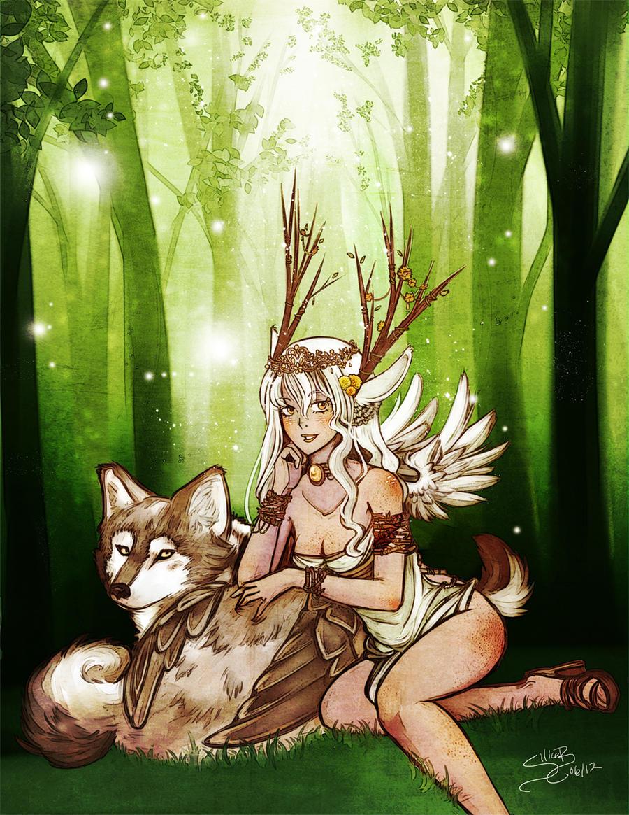 La jeune fille et le loup by SiliceB