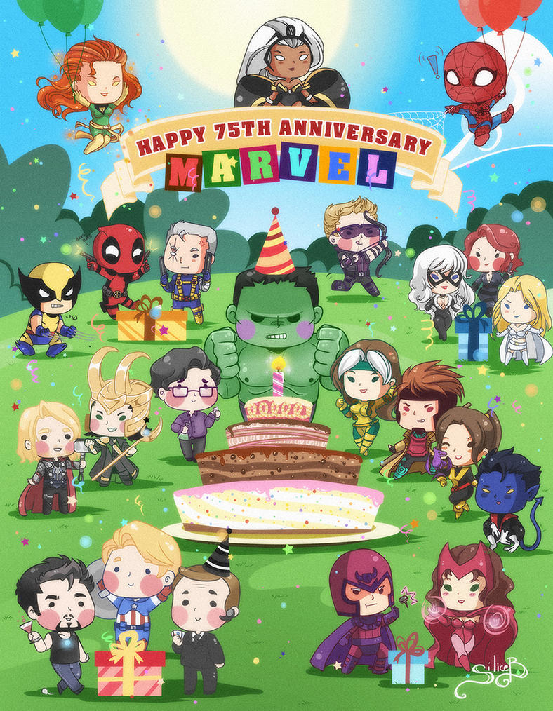 Marvel 75th Anniversary by SiliceB