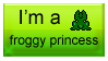 Froggy Princess stamp by QuEeN-MiUsHkA