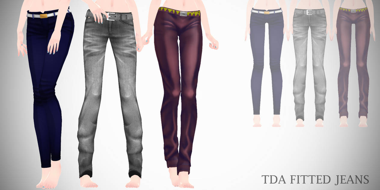 Mmd Tda Fitted Jeans Download By Creepy Ru On Deviantart