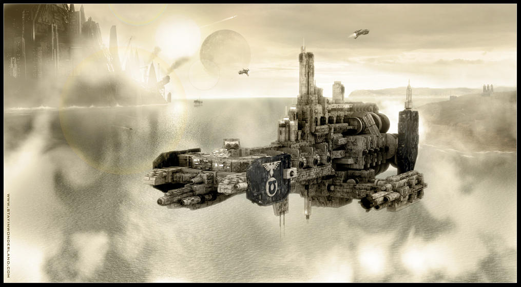 [GALERIE] Artworks Space_Marine_Strike_Cruiser