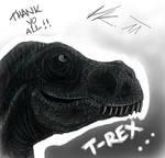 t-rex by TheBIub