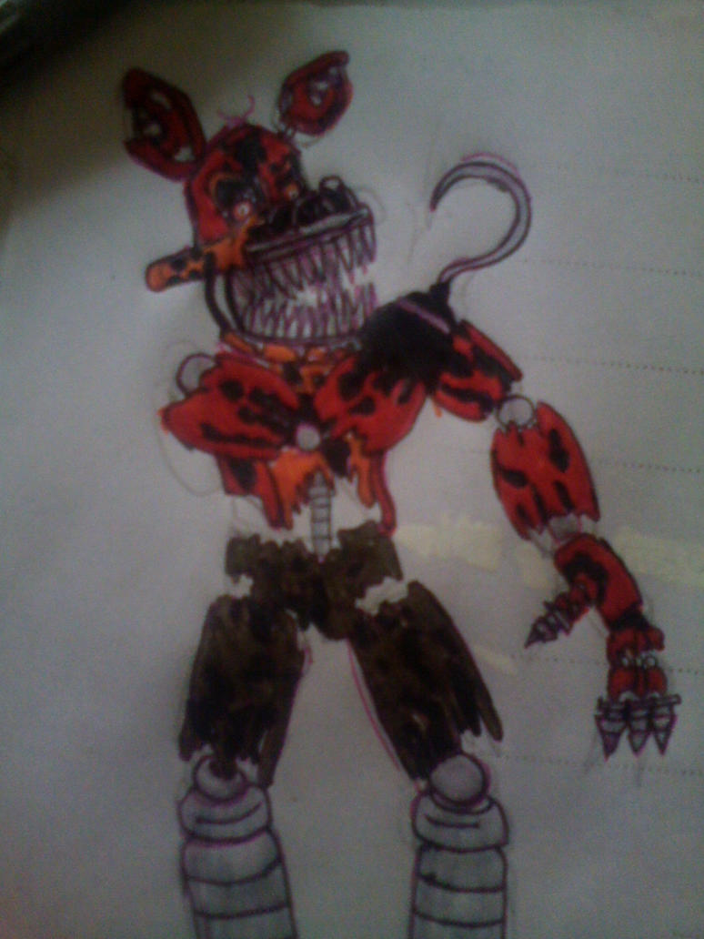 It's just a photo of Bewitching Nightmare Foxy Drawing