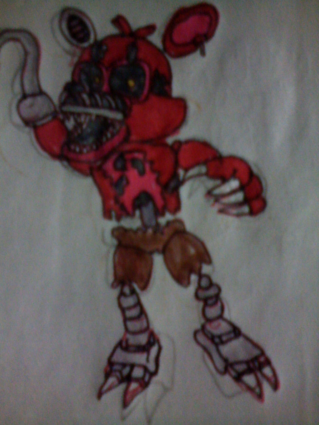 This is an image of Sweet Nightmare Foxy Drawing
