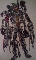 Molten Hybrid v2 (standing) by FreddleFrooby