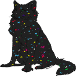 Paint Splatter wolf tag by Hadesclaws