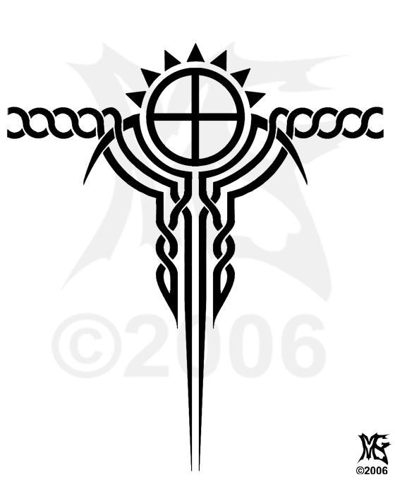 Paganish - shoulder tattoo