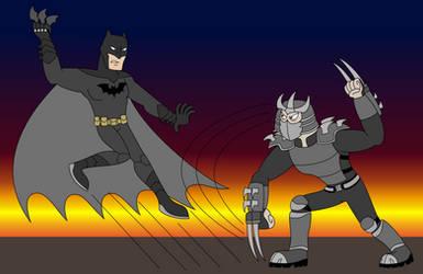 Batman vs Shredder by EddyBite87
