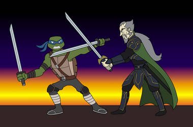 Leonardo vs Ra's Al Ghul by EddyBite87