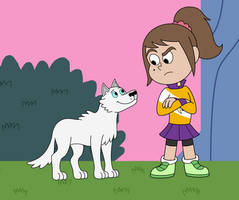 Zoe and Snowball 01