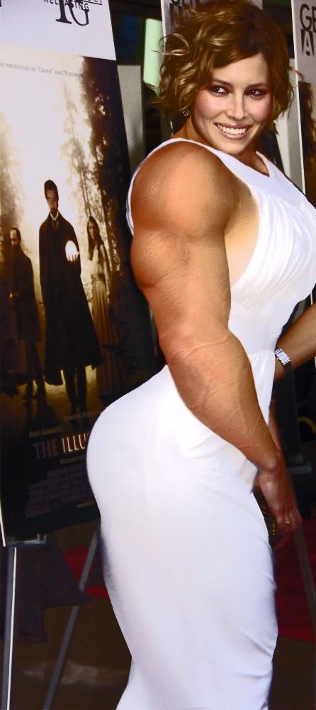 Jessica Biel Muscle by zjefvanutsel