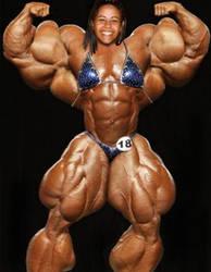 Ultra Huge Muscle Girl by zjefvanutsel