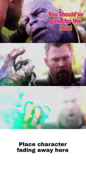 Thanos snaps his Finger at who meme