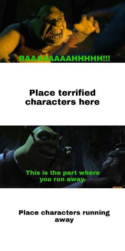 Shrek Scare Who Meme By Dimensions101 On Deviantart