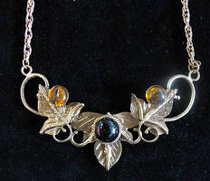Copper Leaves Pendant by camias