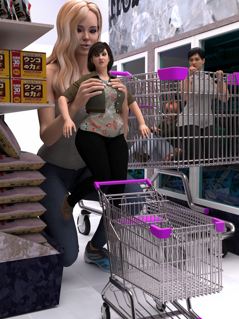 Shopping For Hot Moms By Berrysmall On Deviantart