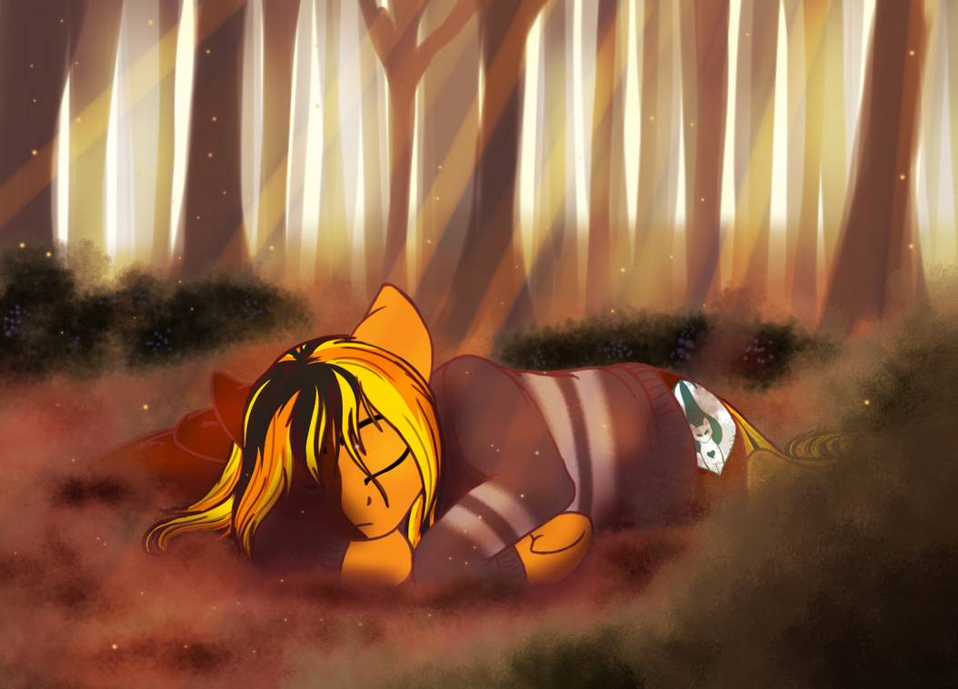 Autumn Nap by BLACKBLOOD-QUEEN