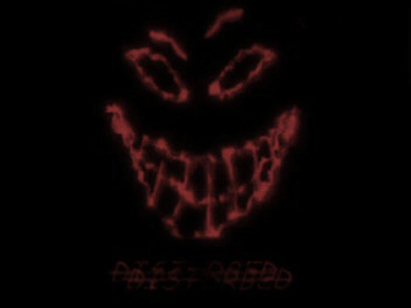 Multifunctional Headbands Disturbed-Smiley-face-Rock-Black ... |Disturbed Smiley Face