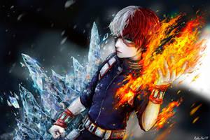 Todoroki Shouto (My Hero Academia) by BlueStarFFF