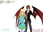 Jade and Oliver RWBY OC's by Oliverthedragonlord