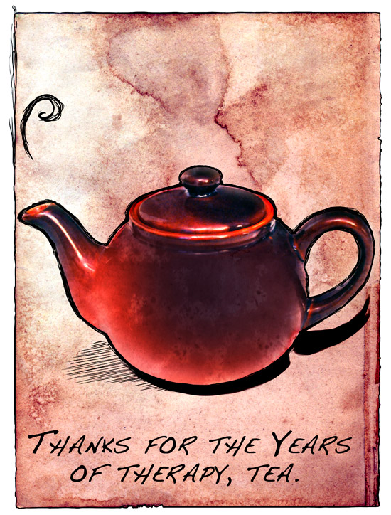 Thank You Tea by blackenedhonestyart
