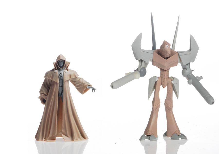 Doctor Doom and robot by MatBrouillard
