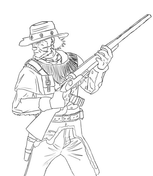 red dead redemption coloring pages - photo#35