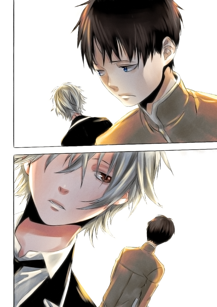 Kaworu Nagisa and Ikari Shinji by LeLapinAgile
