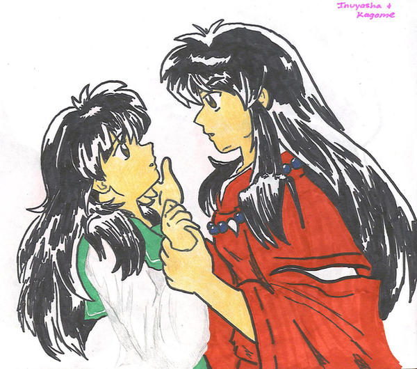 Human Inuyasha And Kagome By Animefreak4real On DeviantART