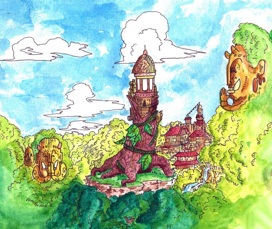 Manga landscape by ijones81