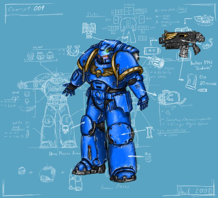 Space marine armour by DarkLostSoul86 on DeviantArt