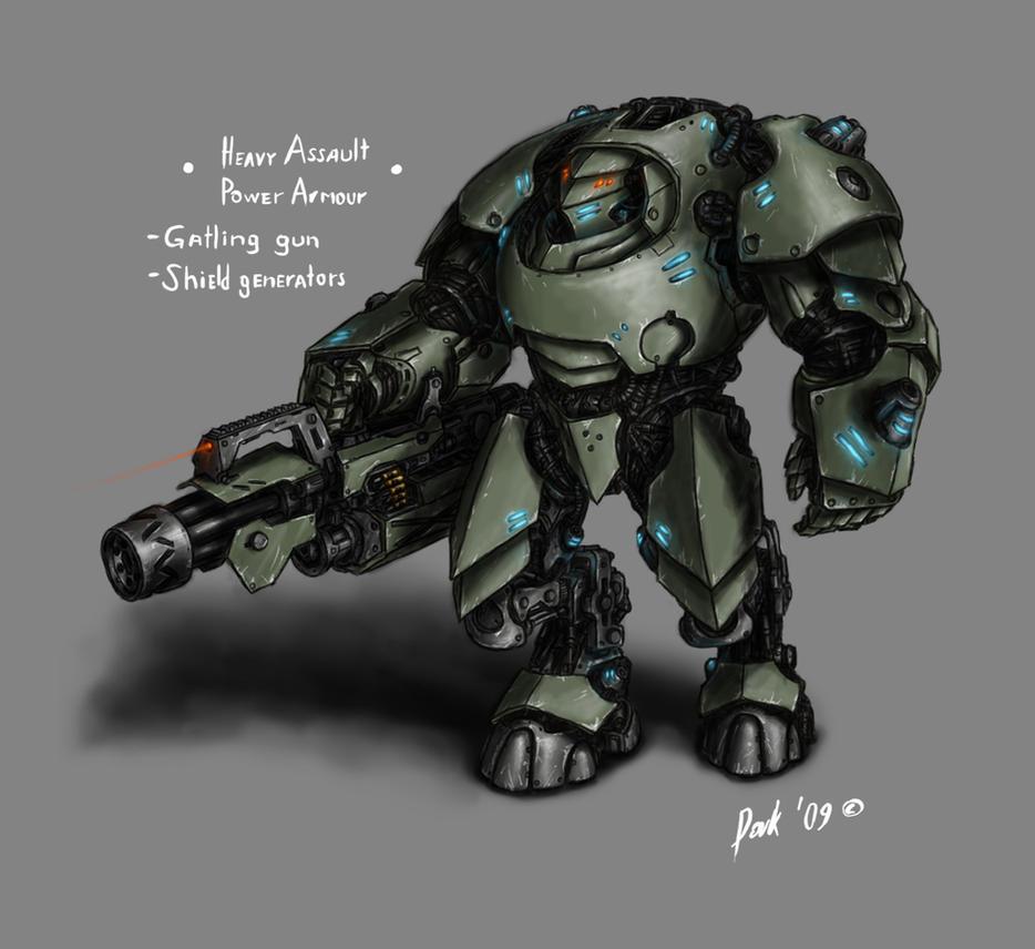 Assault Power Armour By DarkLostSoul86 On DeviantArt