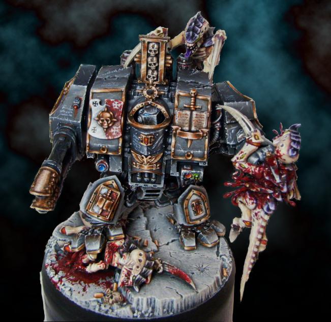 Grey Knights Dreadnought vs Tyranids by DarkLostSoul86