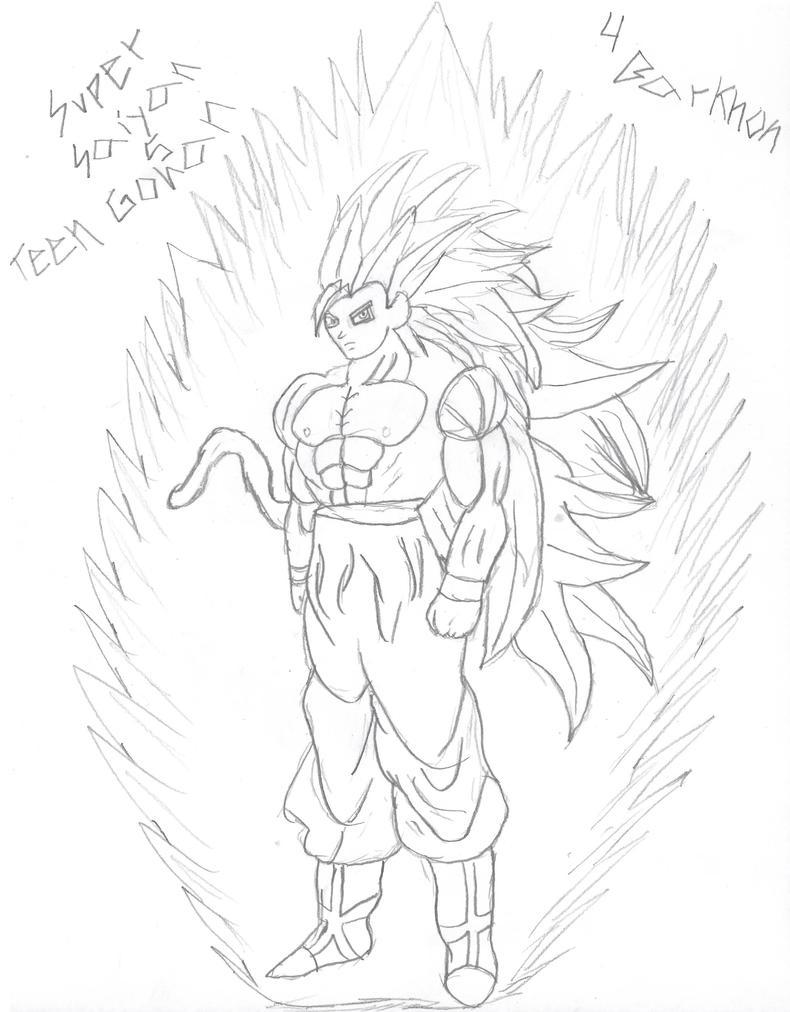 Super Saiyan 5 Teen Gohan by goliad