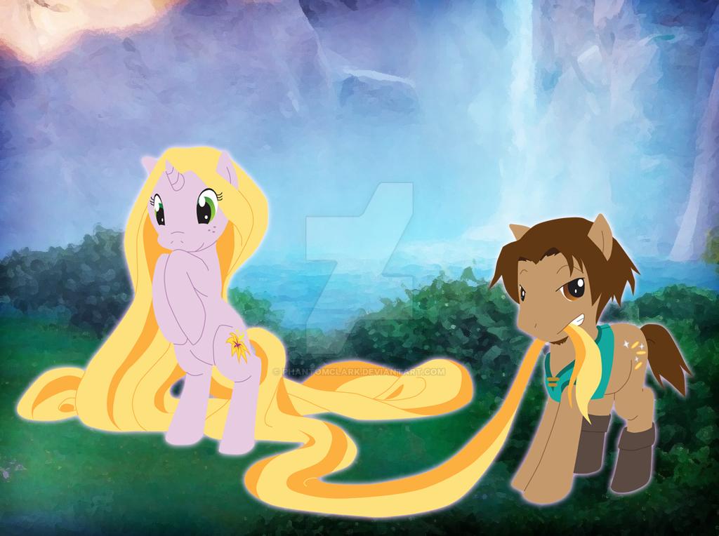 Tangled Ponies by PhantomClark