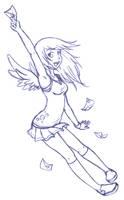 Derpy Hooves Sketch by PhantomClark