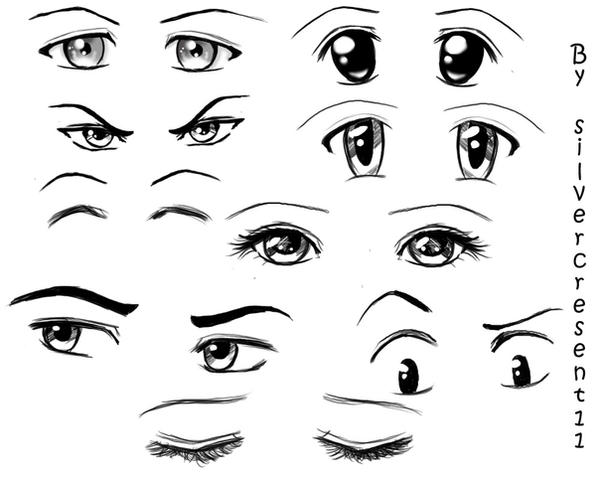 Anime Eyes By Silvercresent11