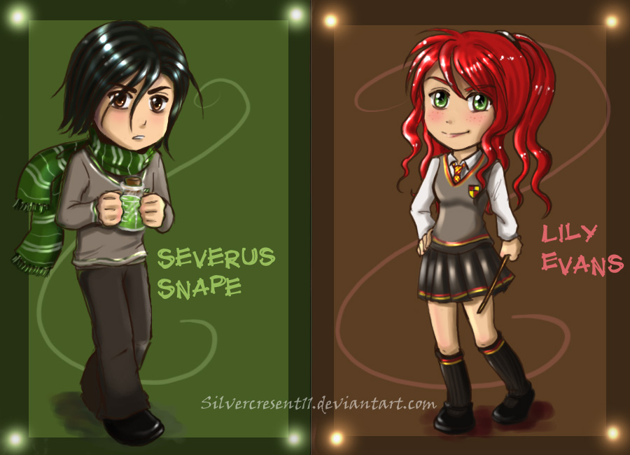 Chibi Snape and Lily by *Silvercresent11 on deviantART