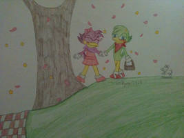 .:Art Trade:. Bean and Carrie by Valkyrie01325