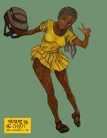 Nigerian School Girl by sugabelly
