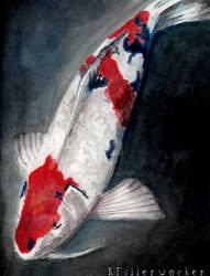 Koi Fish Watercolor Card
